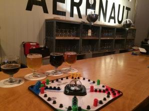 Board games at Aeronaut Brewery