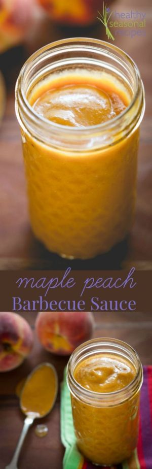 Maple Peach Barbecue Sauce